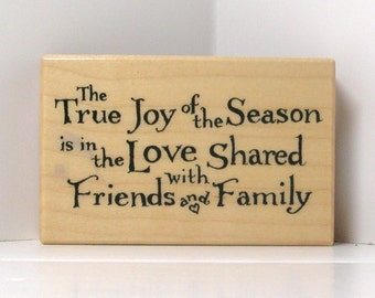 PSX The TRUE Joy of the SEASON Rubber Stamp