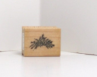 Patch of Plants weeds Rubber Stamp