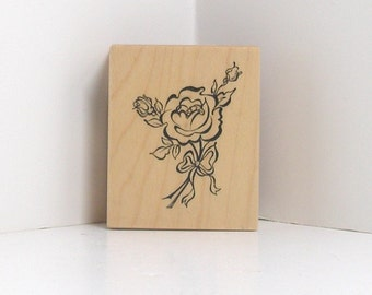 PSX Rubber Stamp Small and Sweet ROSE BOUQUET