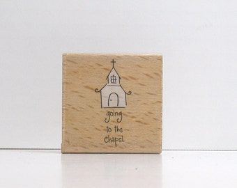 Going To The Chapel Rubber Stamp