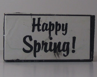 Happy Spring Rubber Stamps