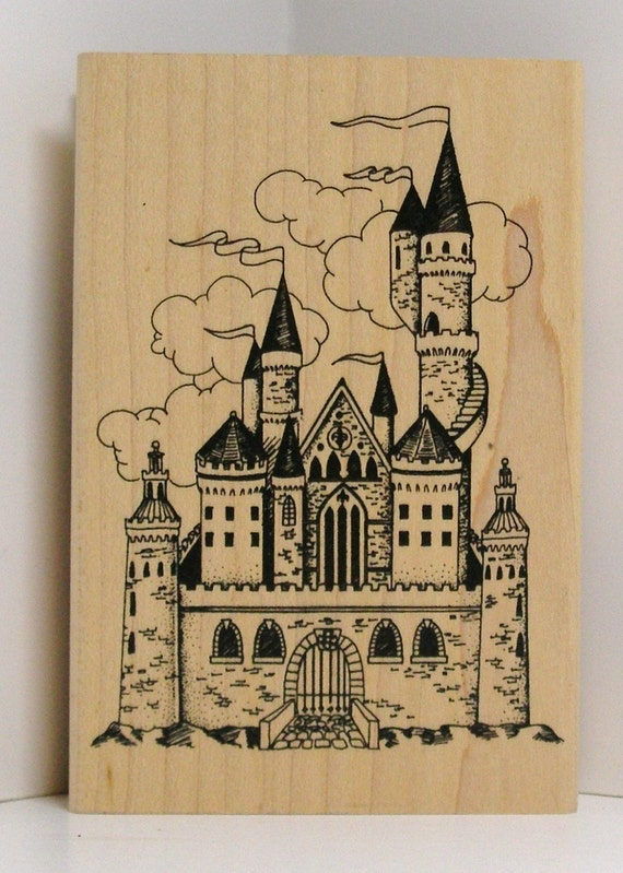 Old Fairytale Castle Rubber Stamp