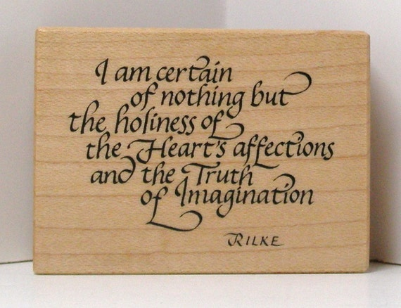 PSX RILKE Saying Rubber Stamp I am certain of nothing