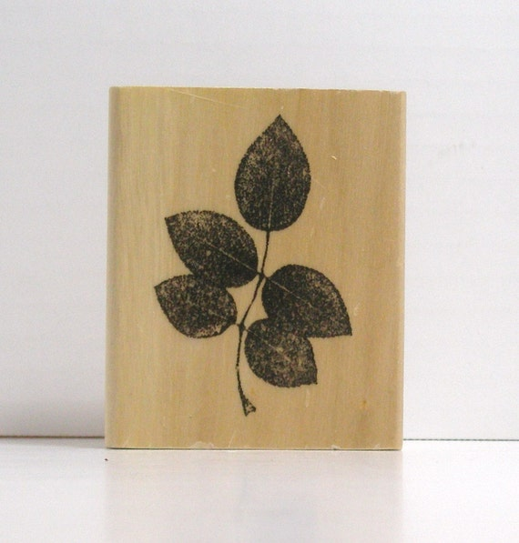 Dry Stem of Leaves Rubber Stamp