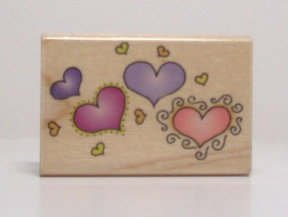 Heart Pattern Border Rubber Stamp Hero Arts