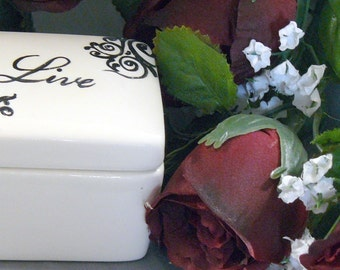 Ceramic Box - Live Keepsake Box