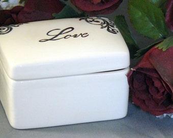 Ceramic Love Keepsake Box