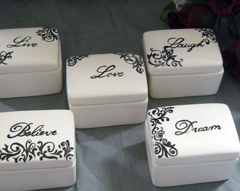 Ceramic Keepsake Box Set