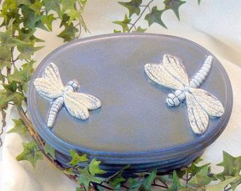 Oval Dragonfly Jewelry Box