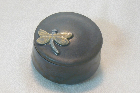 Ceramic Keepsake Box - Dragonfly Keepsake Box