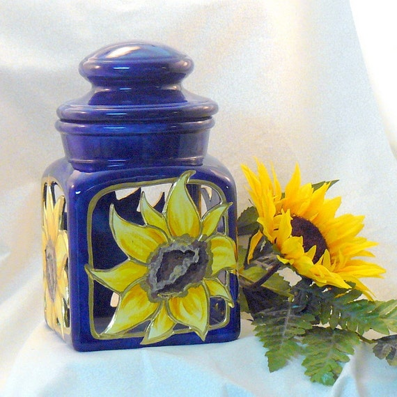 Ceramic Sunflower Lantern