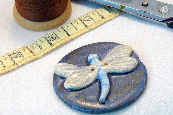 Ceramic Dragonfly Button
