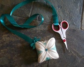 Pin Cushion with Ribbon Scissors Holder
