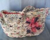 Purse, Crocheted Rag Bag, Shabby Chic