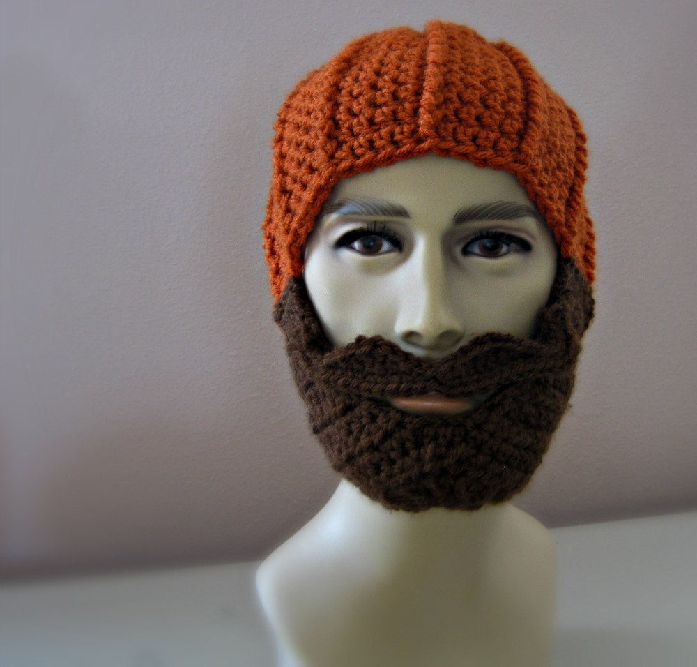 Long Beard Hat The Original Beanie Gy Dark Gray Striped With Brown