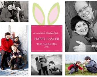 Spring or Easter (you print) photo card - 4x6 or 5x7