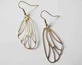 Gold Butterfly Wing Earrings
