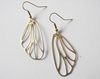 Gold Butterfly Wing Earrings
