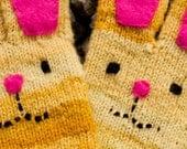 Marshmallow Peep Mitts - Knitting Pattern PDF