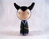 Maleficent The Mistress of Evil Wood Peg Kokeshi Doll