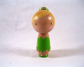 Simply Tinkerbell Kokeshi Peg Doll