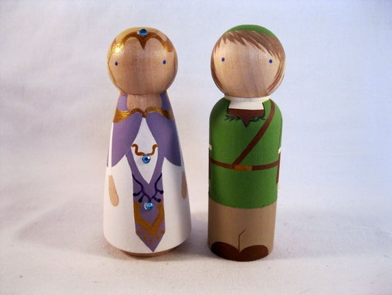 RESERVED for cphillip13 Legend of Zelda Video Game Peg Doll Cake Toppers