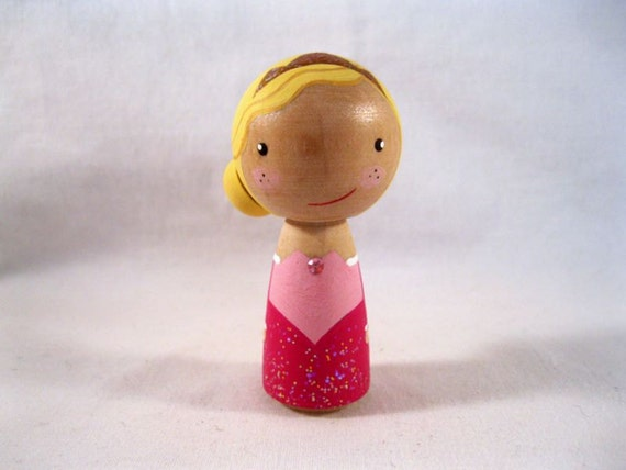 Simply Sleeping Beauty Kokeshi Peg Doll