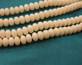 Bone Bead 6mm Rondell 15in strand aprox 100 beads