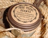 Just Hitched (white cake) - 4 oz western cowboy candle