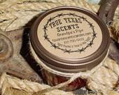 Grandpa's Pipe - 4 oz Mason Jar Western Cowboy Candle