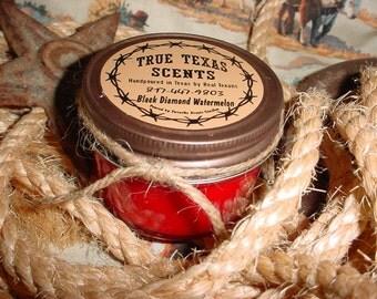 Black Diamond Watermelon - 4 oz Texas style Western Cowboy Candle