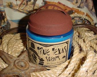 Blue Jean Baby (tobacco & leather) - 16 oz Western Texas Cowboy Candle