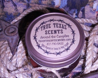 Around the Campfire (Firewood Scent) - 8 oz Western Cowboy Candle