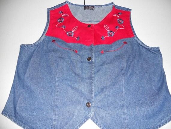 Cute Western Cut Demin Vest