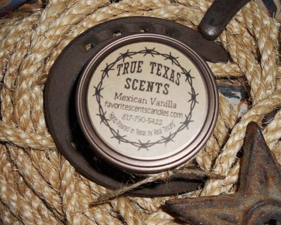 Mexican Vanilla - 4 oz mason jar western cowboy candle