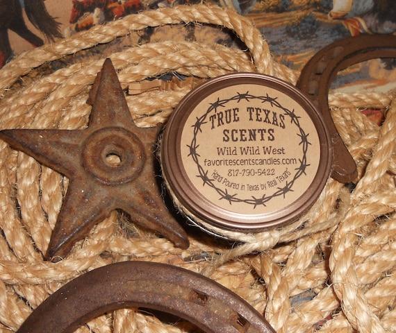 Wild Wild West- 4 oz Western Cowboy mason jar candle