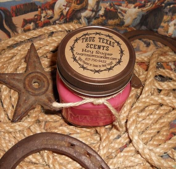 Hey Sugar - 8 oz Western Cowboy Style Candle