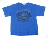 Little Kids Vintage Tee Alaska TShirt  Blue SMALL XS Youth Size 6-8