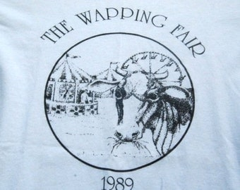 Vintage Tshirt The Wapping Fair CT 1989 Amazing Condition SMALL XS