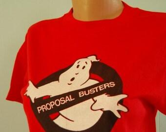 Vintage Ghostbusters Spoof TShirt Super Soft n Thin Hanes Tee MEDIUM SMALL