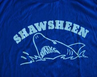 Sweet Shark Tshirt Shawsheen MA Royal Blue Vintage Tee XL