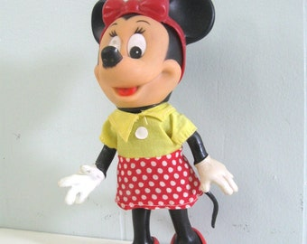 SALE 1960s Minnie Mouse Doll in Original Bag Awesome Condition Walt Disney World Florida