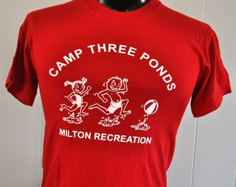 Vintage Tee Camp Three Ponds Sweet Tee Red SMALL MEDIUM