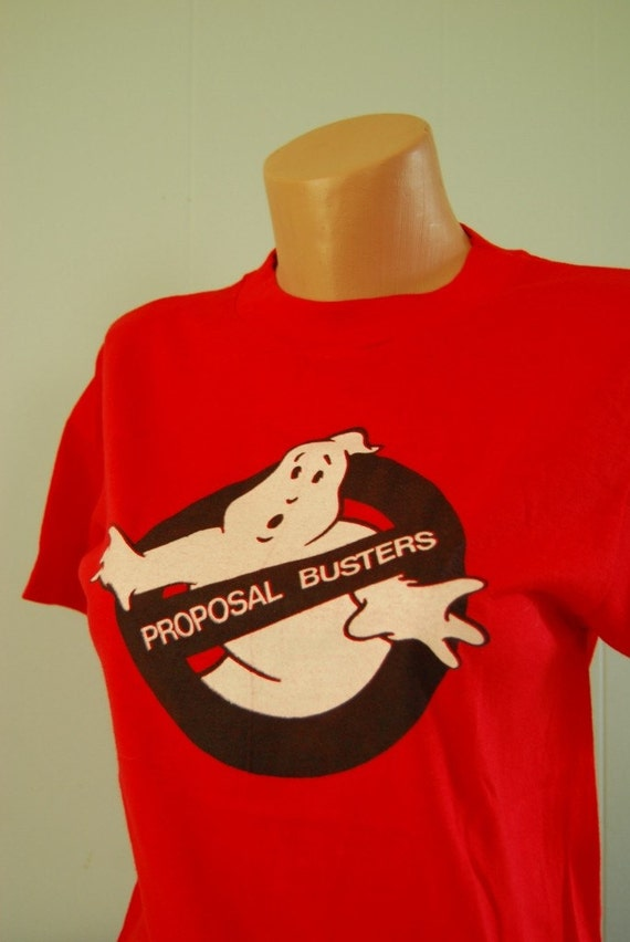 Vintage Ghostbusters Spoof TShirt Super Soft n Thin Hanes Tee MEDIUM SMALL