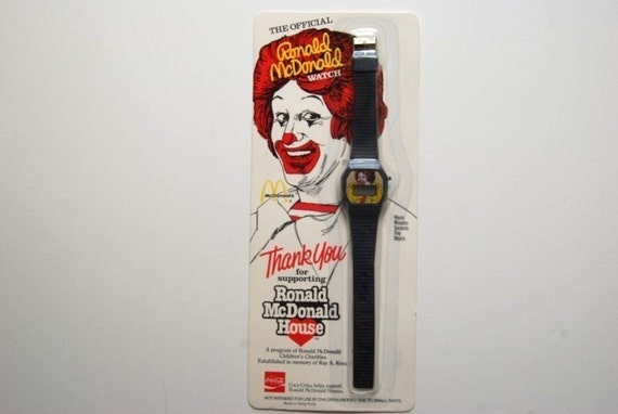 Rad McDonalds Black Watch Ronald McDonald 80s