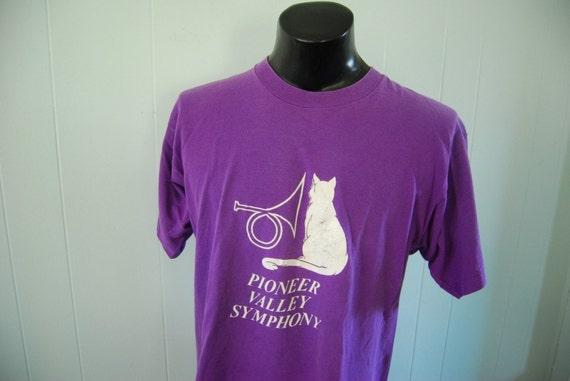 Vintage TShirt Pioneer Vallye Symphony Cat Purple TShirt XL