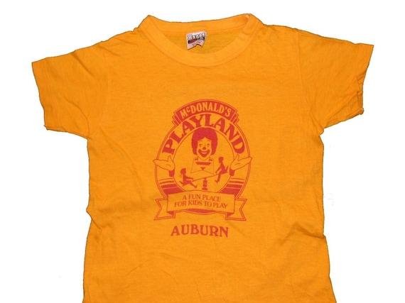 Vintage McDonalds Tee Ronald Cutest Kids Shirt Super Soft Thin XXS