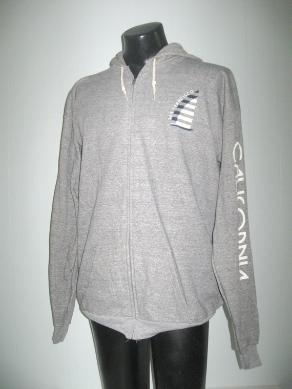 San Francisco 80s Sweatshirt Super Soft n Comfy Zip Up Hoodie California XL