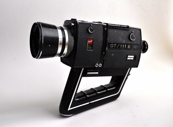 1971 GAF ST 111 E Video Camera 8mm Super8 Movie Film 1970s 70s Sci Fi Space Age Futuristic Retro Design