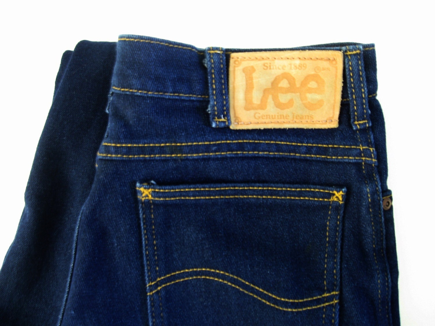 Unworn Vintage Jeans 80s Lee Denim Pants Straight Leg By